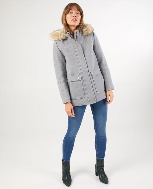 Manteau d'hiver en laine Sora - avec fausse fourrure - Sora