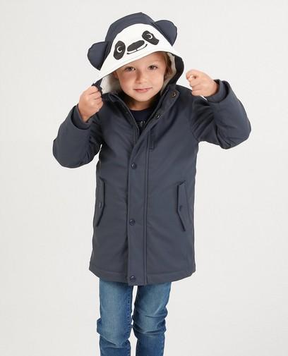 Donkergrijze regenjas - panda