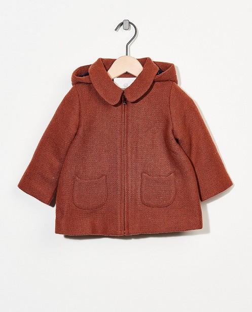 Bruine jas met metaaldraad - allover - Cuddles and Smiles