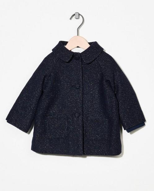 Donkerblauwe jas met metaaldraad - allover - Cuddles and Smiles