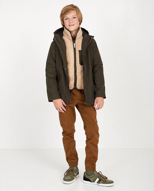 Manteau vert 2 en 1, 7-14 ans - avec veste détachable - Fish & Chips