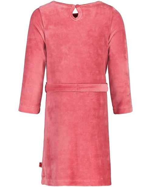 Robes - Robe rose en velours Froy & Dind