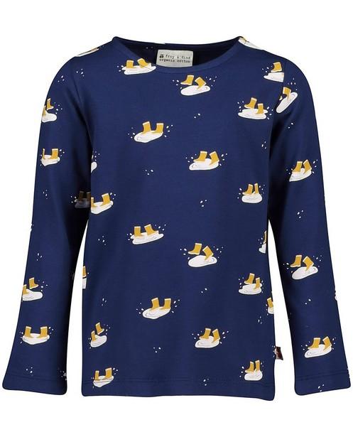 T-shirt bleu à manches longues Froy & Dind - avec imprimé intégral - Froy en Dind