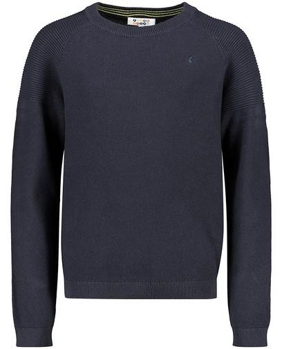 Donkerblauwe trui van biokatoen
