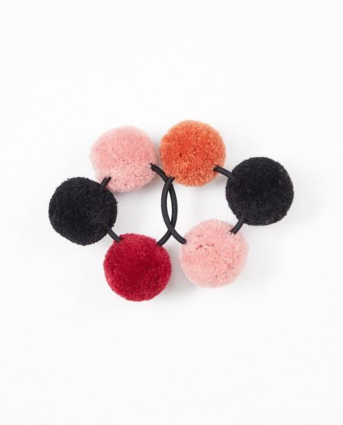 Set van 2 elastieken met pompons - haarelastieken - JBC