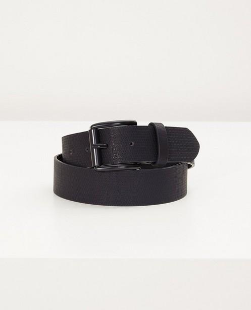 Zwarte riem - met ingekerfde print - JBC