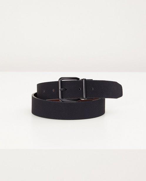 Zwarte-bruine omkeerbare riem - met structuur en print - JBC