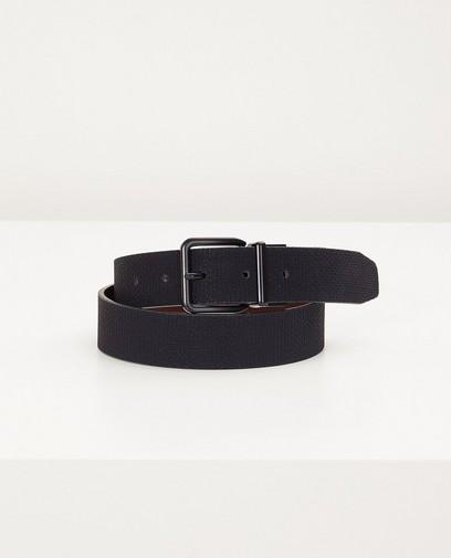 Zwarte-bruine omkeerbare riem