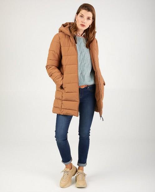 Manteau d'hiver camel avec rembourrage - avec capuche - JBC