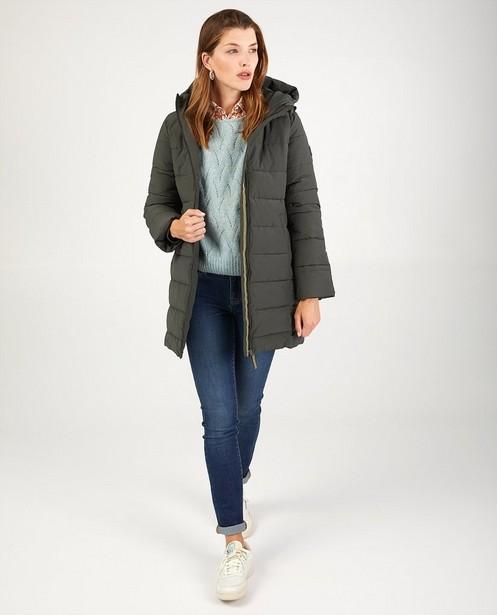 Manteau d'hiver kaki avec rembourrage - avec capuche - JBC