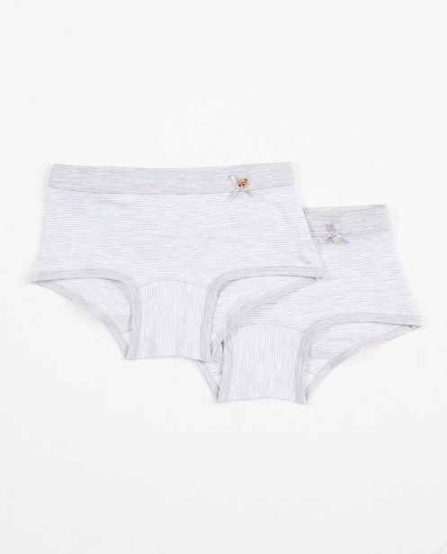 2 shortys rayés, Woody, 7-14 ans - blancs/gris - Woody