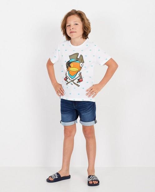 Wit T-shirt met print Fortnite - Fishtick - Fortnite