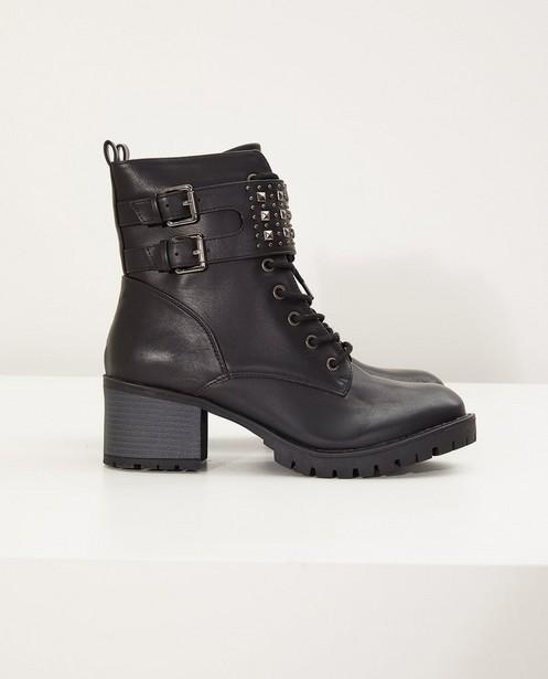 Zwarte laarzen, maat 36-41 - met studs - Sora