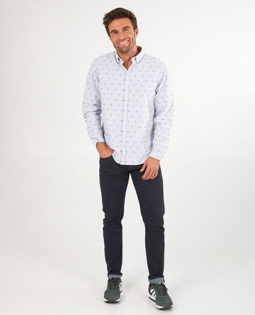 Wit hemd met strepen League Danois - allover - League Danois
