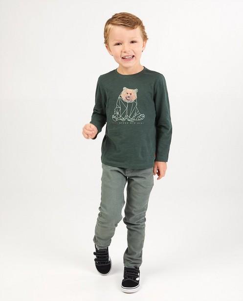 T-shirt vert foncé à manches longues Vic - imprimé spécial - Vic le Viking