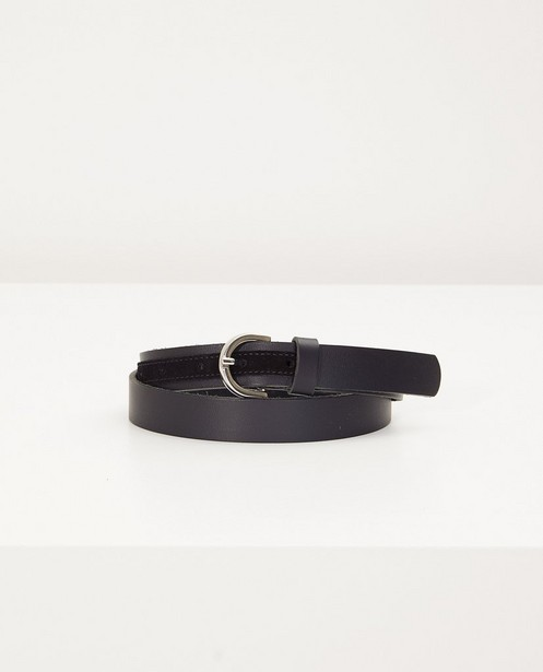 Zwarte riem Pieces - met zilverkeurige gesp - Pieces
