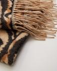 Bonneterie - Écharpe brune à imprimé Pieces