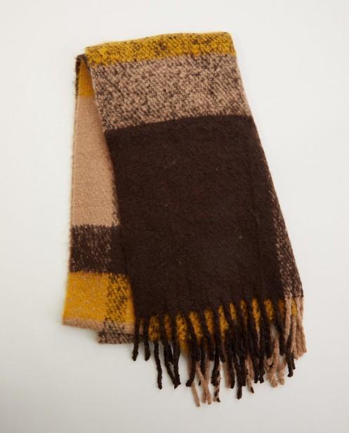 Écharpe dans des tons de brun Pieces - à rayures - Pieces