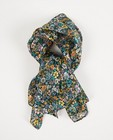 Zwarte sjaal met bloemenprint - allover - Fish & Chips
