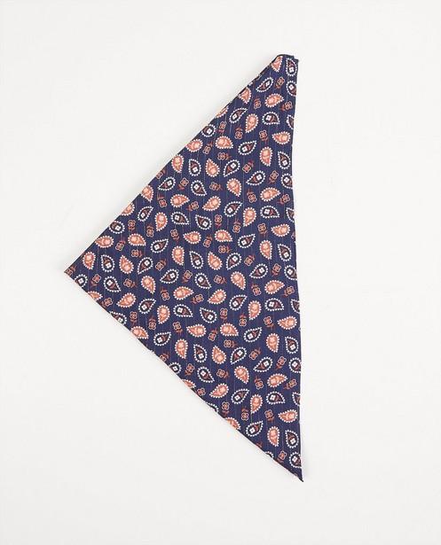 Breigoed - Blauwe sjaal met paisleymotief