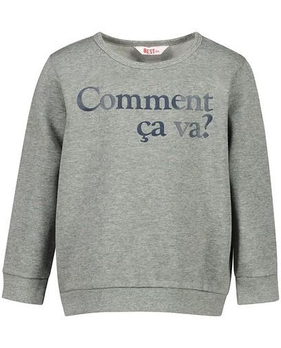 Grijze sweater met print BESTies