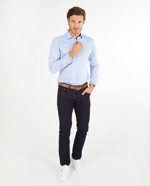 Lichtblauw hemd s.Oliver - effen - S. Oliver