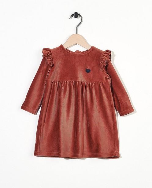 Roestbruin jurkje BESTies - van ribfluweel - Besties
