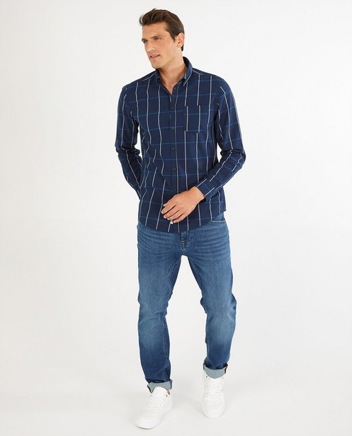 Chemise bleue à carreaux - imprimé intégral - Quarterback