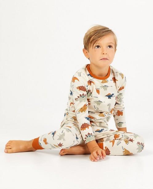 Pyjama beige avec imprimé dinosaure - imprimé intégral - Kidz Nation