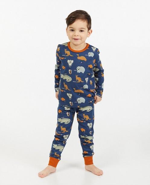 Blauwe pyjama met print - allover - Kidz Nation
