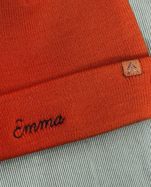 Oranje damesmuts, Studio Unique - personaliseerbaar - JBC