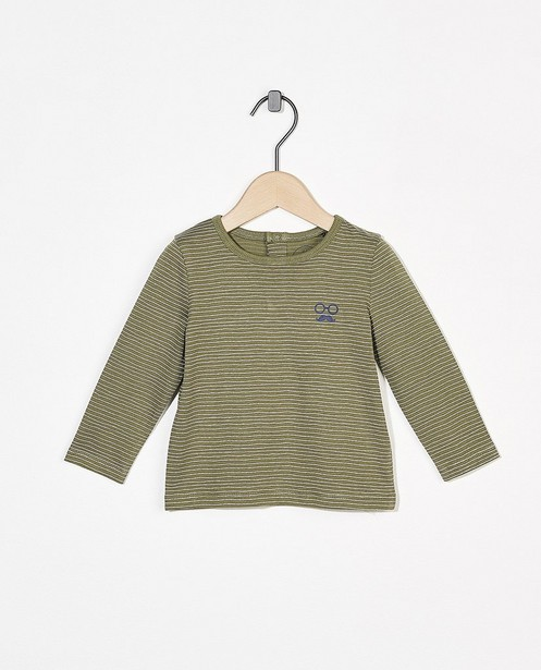 T-shirt rayé à manches longues BESTies - imprimé intégral - Besties