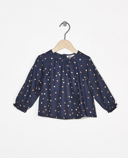Blauwe blouse met stippen BESTies - allover - Besties