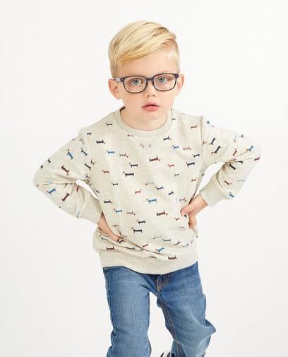 Grijze sweater met hondjes