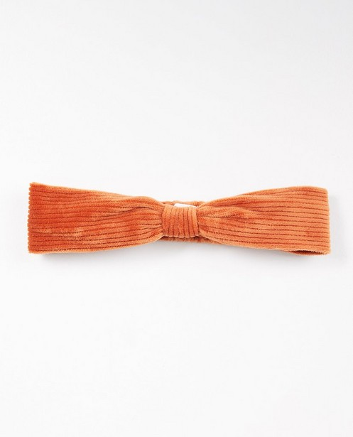 Ribfluwelen haarband in oranje - allover - JBC