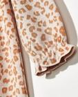 Kleedjes - Beige jurkje met panterprint