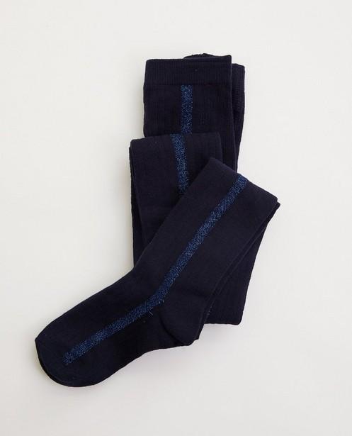 Collants bleus avec relief côtelé - avec fil métallisé - JBC