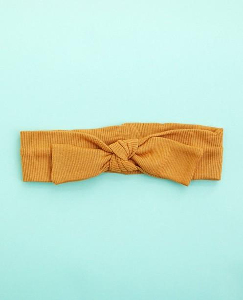 Bandeau brun avec nœud papillon - fines côtes - Cuddles and Smiles
