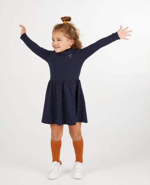 Robe bleue en coton bio - à pois et fleurs - Milla Star