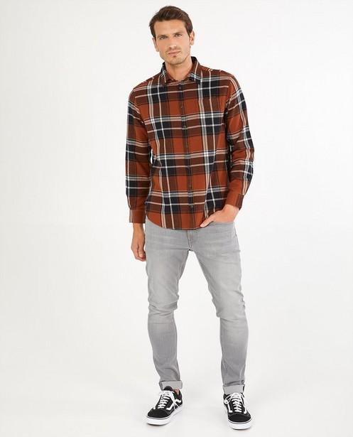 Chemise brun foncé à carreaux - imprimé intégral - Quarterback