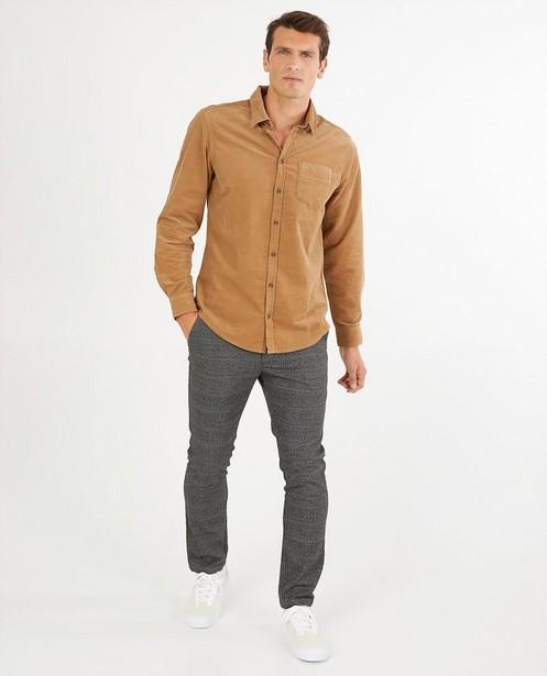 Chemise brune en velours côtelé - fines côtes - Quarterback