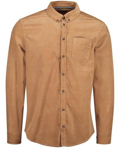 Chemise brune en velours côtelé