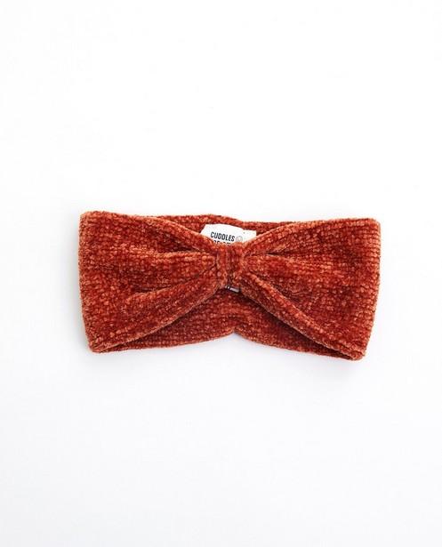 Bandeau brun-rouge - avec nœud - Cuddles and Smiles