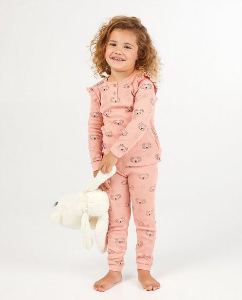 Pyjama rose, 2 pièces - avec un imprimé de koala - Milla Star