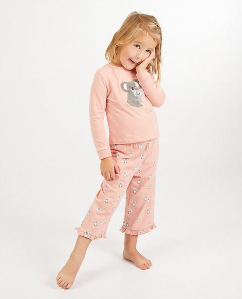 Pyjama rose avec un imprimé de koalas - imprimé intégral - Milla Star