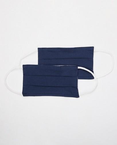 2 masques bleu marine - unisexe