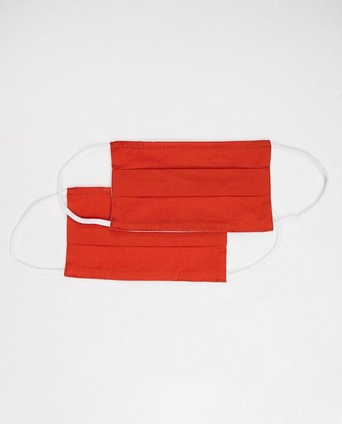 2 oranje mondmaskers - unisex - set van 2 - JBC