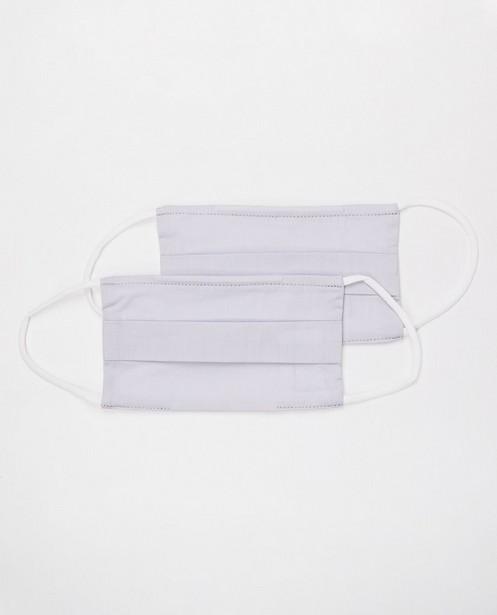 2 masques gris clair - unisexe - ensemble de 2 - JBC