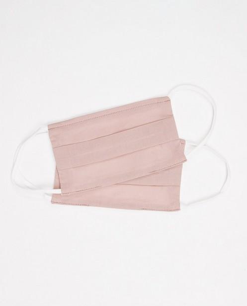 2 taupe roze mondmaskers - unisex - set van 2 - JBC