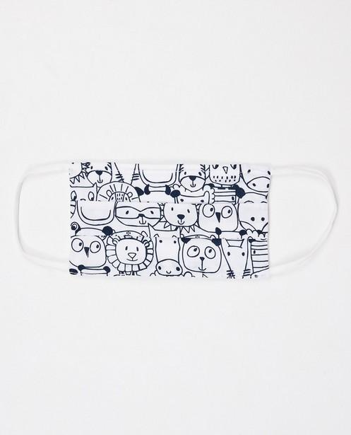 Ensemble de 2 masques - unisexe - blanc à imprimé - JBC